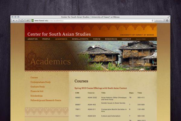CSAS Website - Academics
